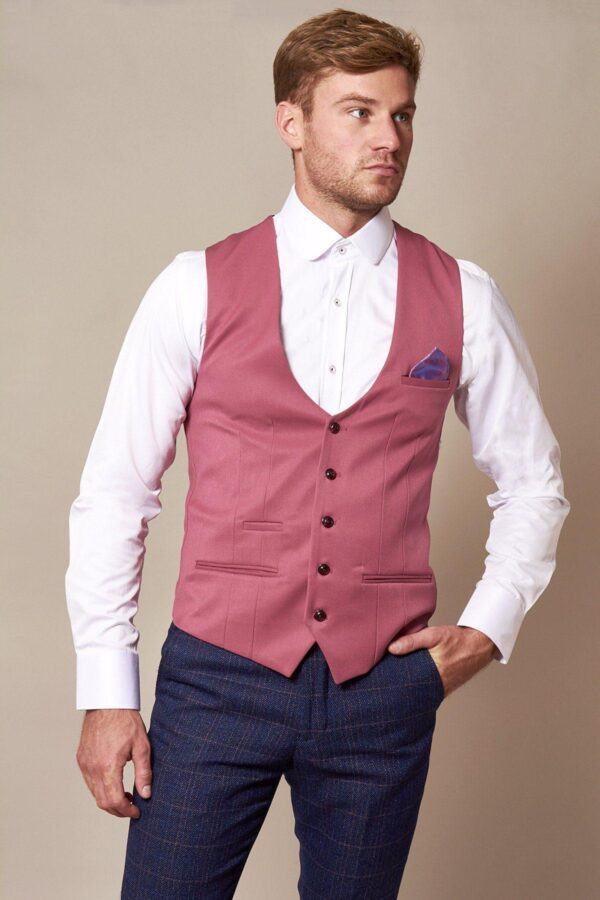 roze-gilet-single-breasted