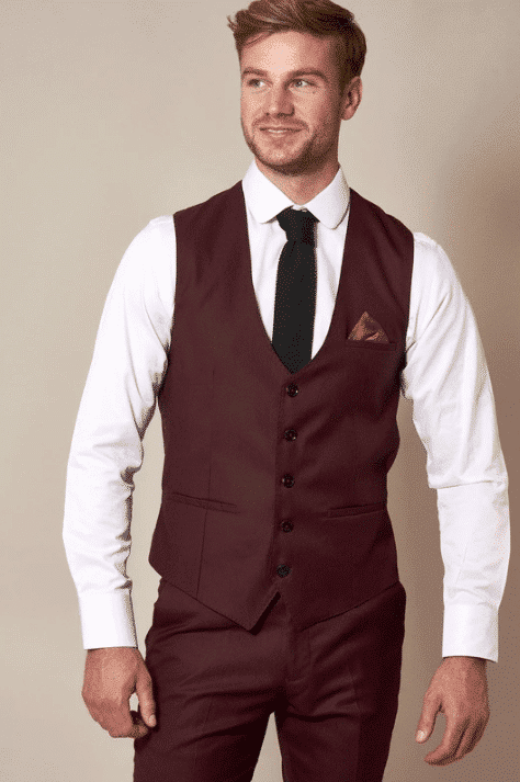 gilet-wine-red